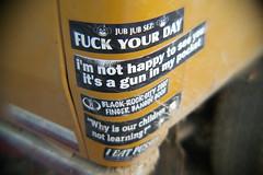 F--k your day! (Shutter Theory) Tags: fish eye sticker pickup fisheye 1973 datsun butterscotch 620 l20b lakehughes bulletside pl620