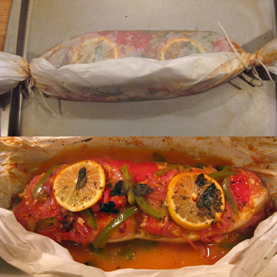 baked halibut wrapped