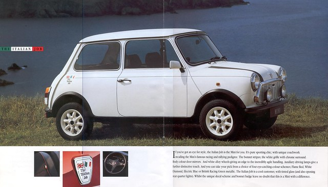 1992 Rover Mini Italian Job Brochure Sixth and Seventh Pages by twincarb1275