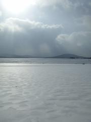 going across the lake (lizofthepeninsula) Tags: frozenlake windhamnewyork