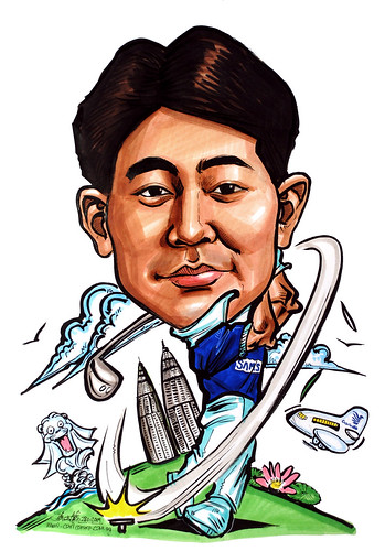 Caricature for Samsung - Golfer