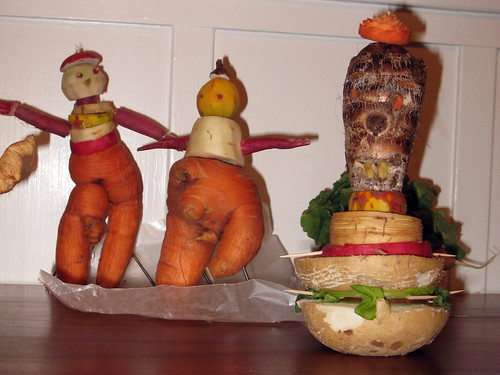 carrot people + tiki roots