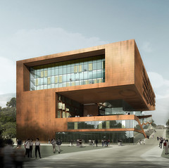 Cuhk - Rendering (d.teil) Tags: china hk architecture design student model university render renderings models hong kong architect research copper architektur prize teaching cuhk rendering preis wettbewerb corten competetion urbanus dteil