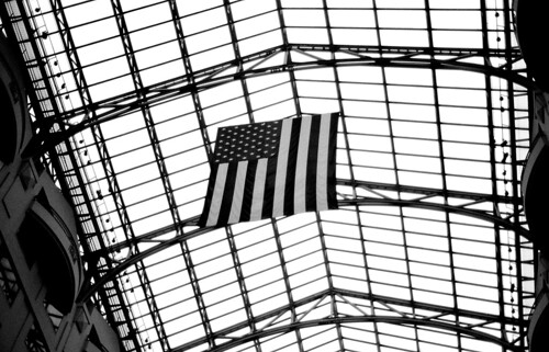 American Flag, Grand Hyatt, Washington, D.C. (Ilford FP4 Plus. Nikon F100. Epson V500.)