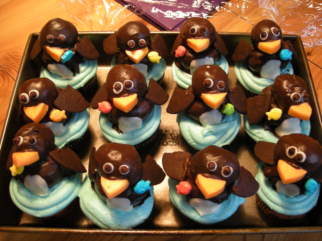 Penguin cupcakes by Laura Daniel