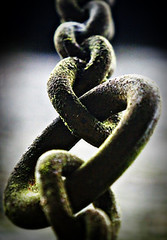 Links (Paul O' Connell) Tags: old metal lomo rust iron steel rustic rusty chain worn oxidation bond hanging aged joined links linked alloy ironore oxidized chainlinks suspend breakthesechains abigfave ferrousmetals