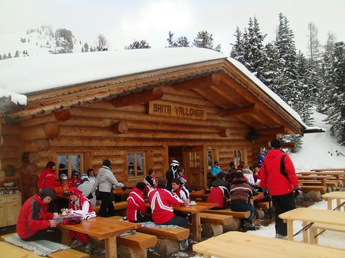 Terraza del Cafe Restaurante Vallongia - Plan de Gralba - Val Gardena