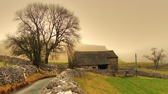 Road to Goredale HDR (Osgoldcross Photography) Tags: road mist building tree misty stone moody stonework foggy winding stark hdr northyorkshire malham photomatix goredale goredalescar handheldhdr impressedbeauty rubyphotographer