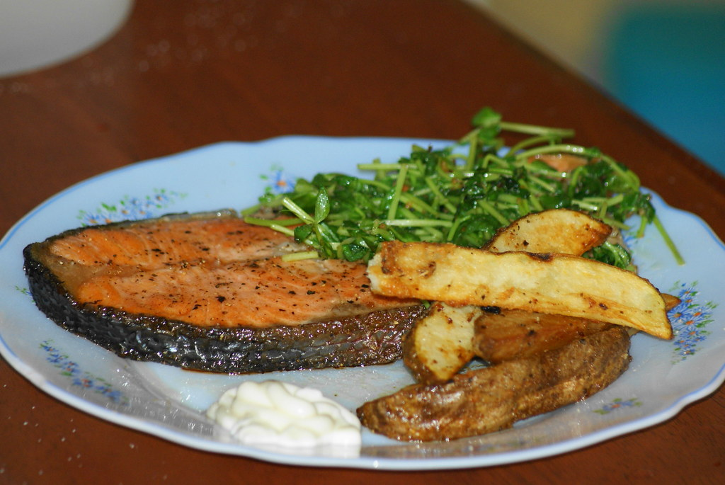 Salmon steak ~ Dinner