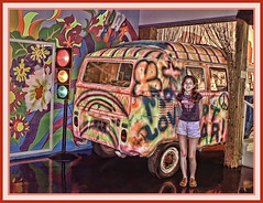 Amanda and the Psychedelic Bus (bluebird218) Tags: bus oklahoma museum route66 clinton psychedelic blueribbonwinner supershot platinumphoto citrit goldstaraward