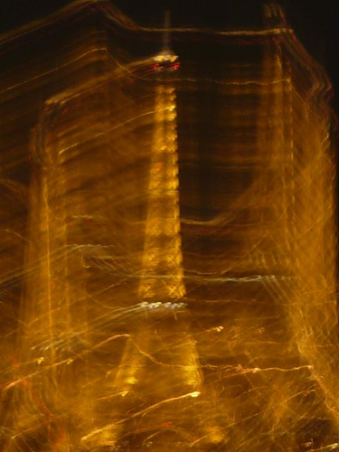 Eiffle Tower at night, view from the Sacré-Coeur
