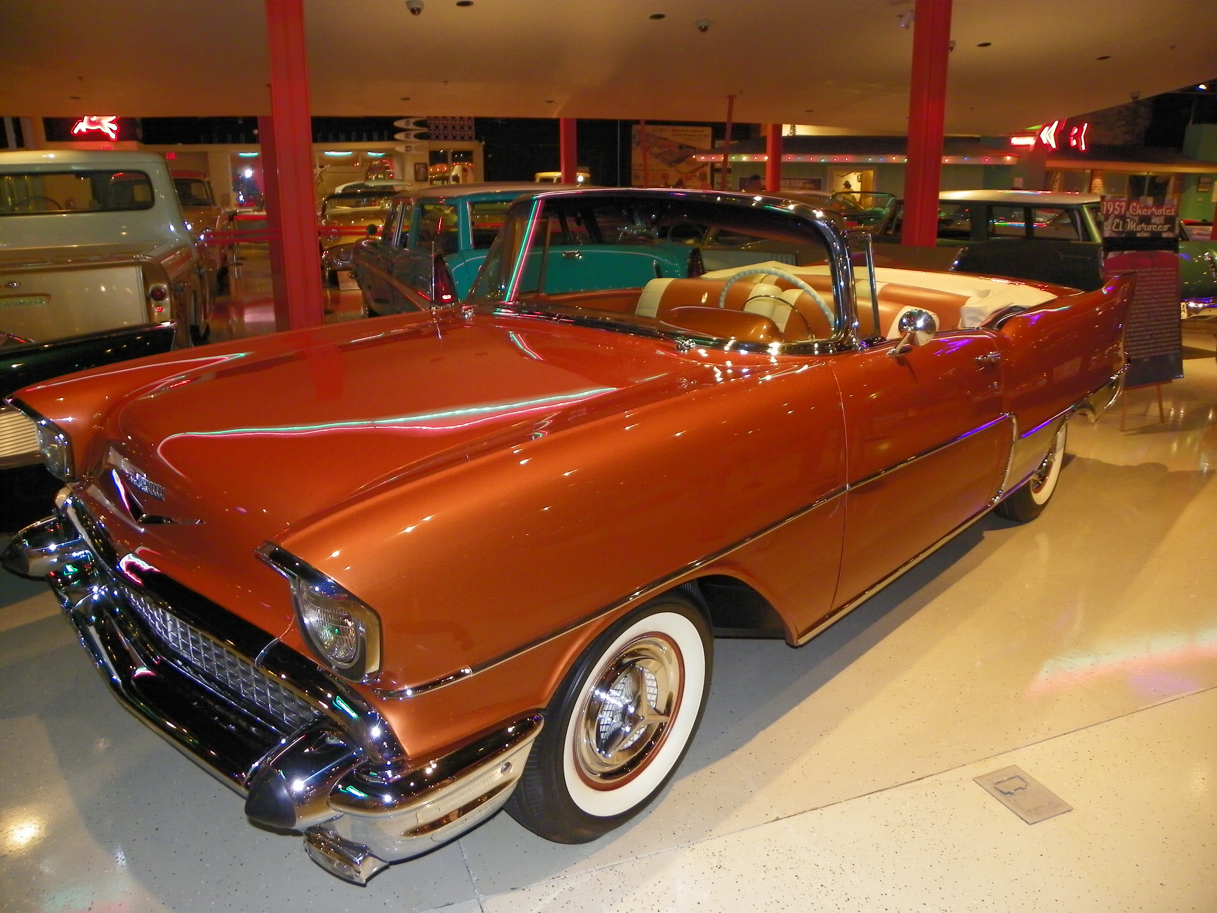 1957 Model of luxury roadster-Chevrolet El Morocco, convertible retro car