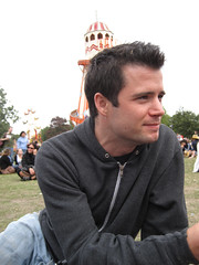 Lovebox Weekender (russelljsmith) Tags: uk friends england music man london tower festival dark hair fun outside grey concert eyes victoriapark europe sitting looking side gig jeans drinks drunks sweatshirt 2009 lovebox loveboxweekender 77285mm loveboxweekender2009 lovebox2009 lastfm:event=861454