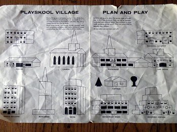Playskool Village #309 Building Plans