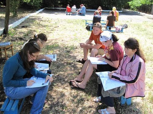 Erik Brewer predă în grupul său la tabăra EFNL 2009