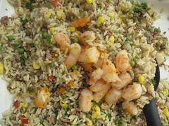 Prawns in rice