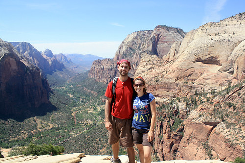 At the Top of Angel's Landing.
