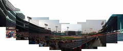 Panorama of MGMT opening for Paul McCartney at Fenway park (view from closer to the field)