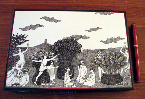 Edward Gorey stationery box