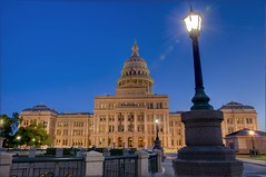 Texas Capitol and Streetlight