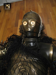 C-3PO, Bespin Escape prop (TK409) Tags: gold costume fiberglass damaged c3po bespin disassembled
