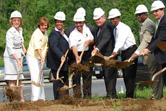 Senator Peters at the Groundbreaking of the Bowie Emergency Medical System