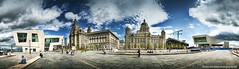 The New Pier Head, Liverpool 2009 (Lee Carus) Tags: panorama building ferry museum liverpool pier head sony explore alpha liver 2009 hdr 3graces a900 explored