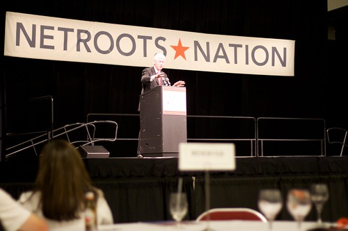 Fmr. Pres. Bill Clinton speaks at the 2009 Netroots Nation Convention in Pittsburgh, PA, From ImagesAttr