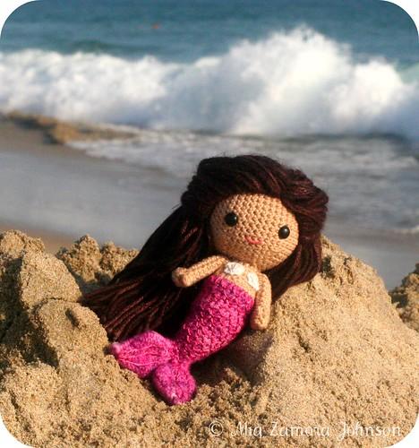 mermaid doll @ Huntington beach