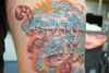 chrome lettering graffiti tattoo 3 Tattooed by Johnny