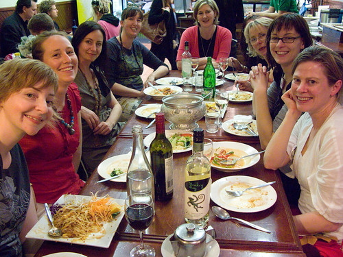 dinner with the crafty ladies in newtown