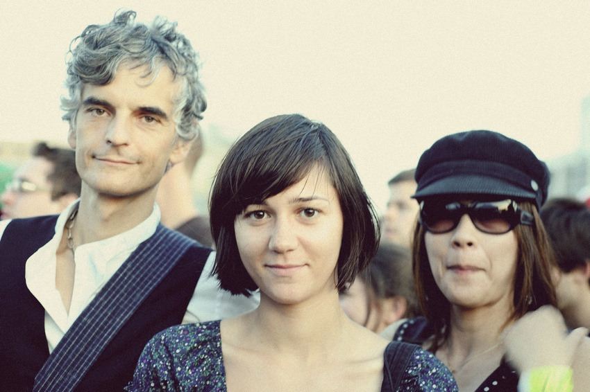 Blonde Redhead, just before Jay-Z stole their backstage thunder