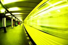 u-bahn (menanderman) Tags: camera old blur berlin analog train vintage fisheye ubahn 16mm zenitar