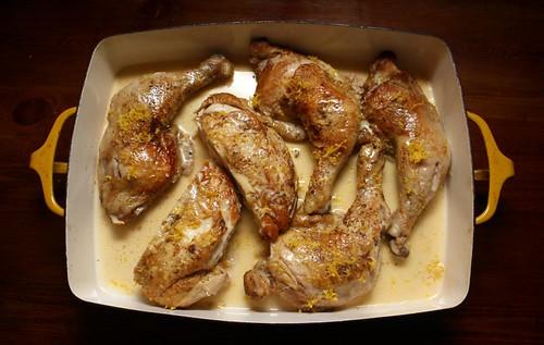Much Depends On Dinner Lemon Crme Frache Chicken