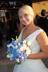 Sara, the gorgeous bride (Details of the Day) Tags: bride tulips bouquet callalily delphinium lisianthus bridalboquet quickmathersweddingflowersbluewhitehydrangea
