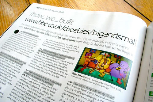 How me made Big and Small in .net magazine.
