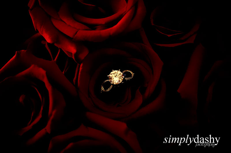 WeddingRingInBouquet
