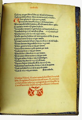 Printer's device in Valerius Maximus, Gaius: Facta et dicta memorabilia