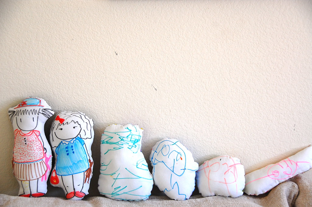 hand drawn dolls