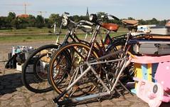 Fahrräder auf dem Flohmarkt