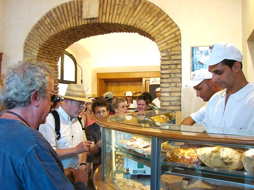 Ordering at Forno Campo de' Fiori