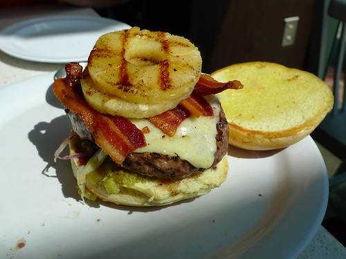 bacon cheeseburger pineapple bacon cheeseburger with pineapple