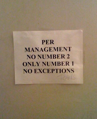 PER MANAGEMENT NO NUMBER 2 ONLY NUMBR 1 NO EXCEPTIONS