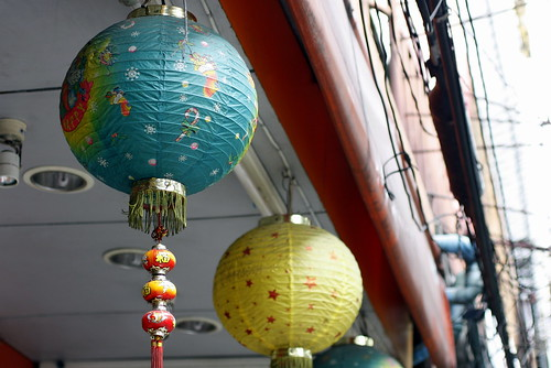 chinese xmas lanterns in october