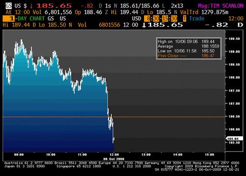 Goldman Sachs GS October 6, 2009