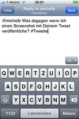 Tweetie 2-Screenshot: Tweet beantworten