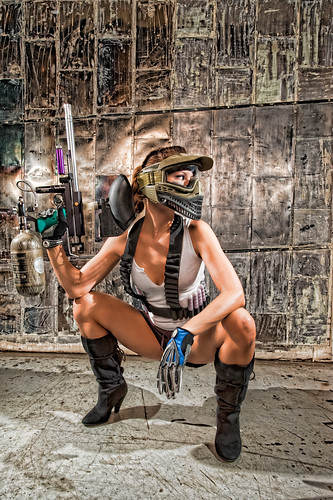 If Laura Croft Played Paintball....