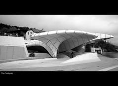 station hungerburg @ innsbruck austria (Toni_V) Tags: autumn bw monochrome architecture austria blackwhite österreich europe 2009 futuristic innsbruck nordkette hadid zahahadid d300 sigma1020mm hungerburg toniv nordkettenbahn theperfectphotographer dsc3947 091010 wwwnordparkcom