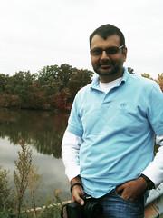 RJ posing for Fall 2009 (Anupamajain) Tags: rohit fall2009