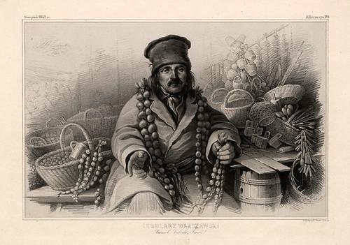 011-Vendedor de cebollas- Varsovia 1841-Album de dibujos de Varsovia- Piwarski